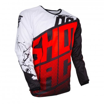 Motocross Jerseys SHOT Devo Venom Red Kid