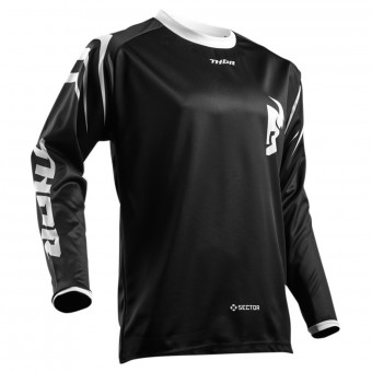 Motocross Jerseys Thor Sector Zones Black Kid