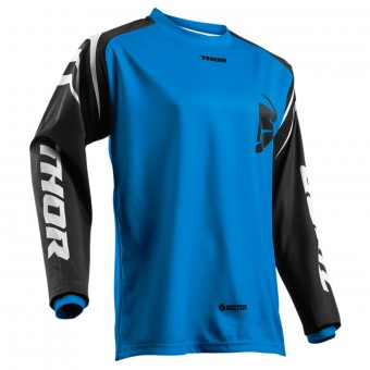 Motocross Jerseys Thor Sector Zones Blue Kid
