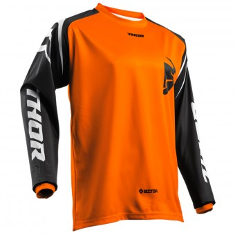 Motocross Jerseys Thor Sector Zones Orange