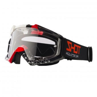 Motocross Goggles SHOT Assault Beyound Black Red