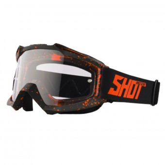 Motocross Goggles SHOT Assault Drop Neon Orange Matt