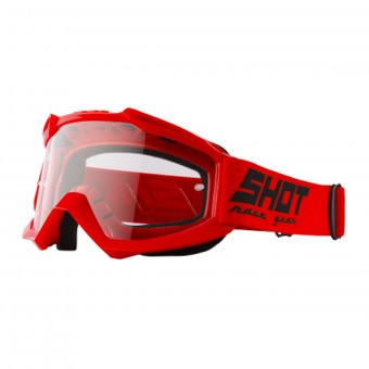 Motocross Goggles SHOT Assault Red