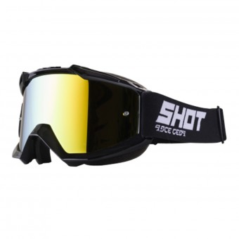 Motocross Goggles SHOT Iris Black Iridium Gold