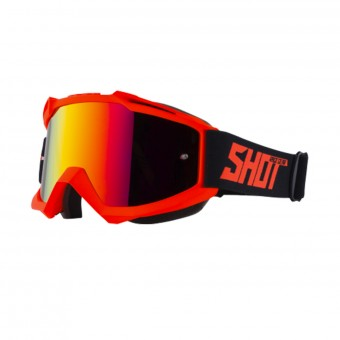 Motocross Goggles SHOT Iris Neon Orange Matt Iridium Red