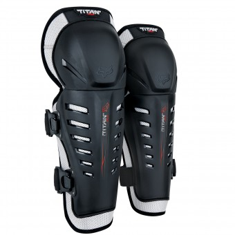 Motocross Knee Protectors FOX Titan Race Knee Black