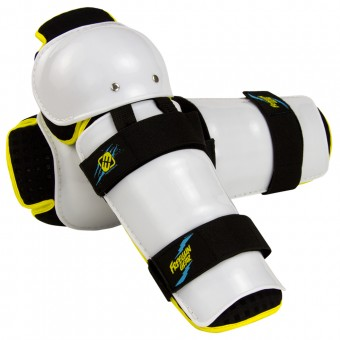 Motocross Knee Protectors Freegun Knee Guard White