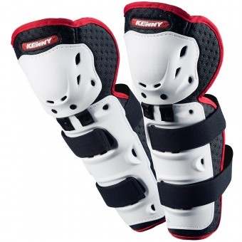 Motocross Knee Protectors Kenny Knee Guards White Kid
