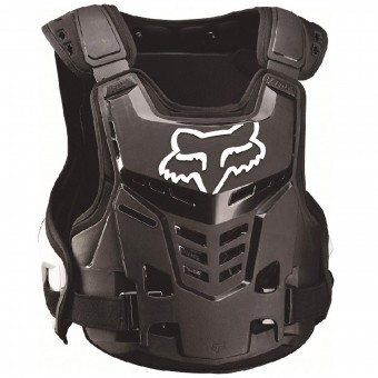 Chest Protectors FOX Raptor Proframe LC CE Black White Child 018