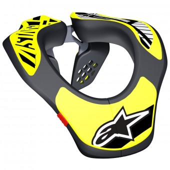 Neck Braces Alpinestars Youth Neck Support Black Yellow Fluo
