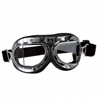Motorcycle Glasses and Goggles Stormer Aviator T08 Chrome