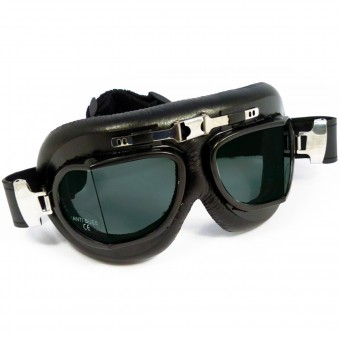 Motorcycle Goggles Torx Air Force Black - Fumé