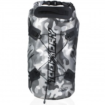 Motorcycle Backpacks Darts Tube 100% Dry 30L Camo Grey