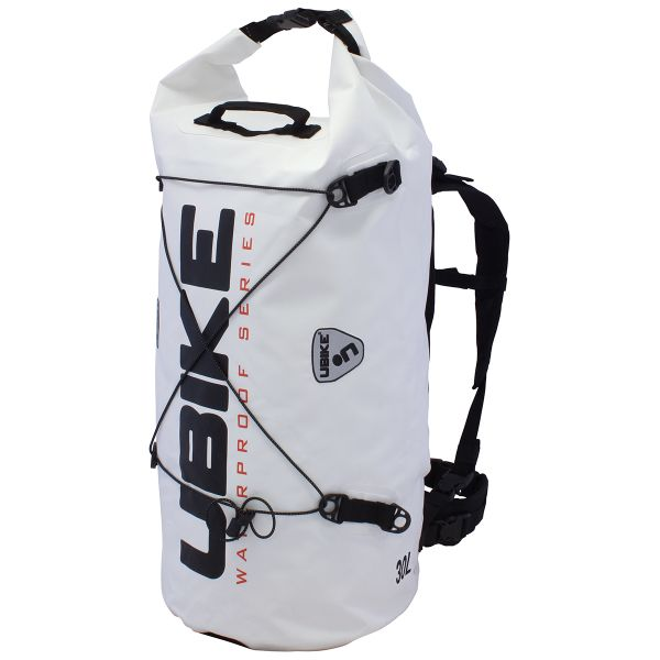 Motorcycle Backpacks UBIKE Cylinder Bag 30 L White Black