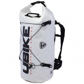 Motorcycle Backpacks UBIKE Cylinder Bag 50 L White Black