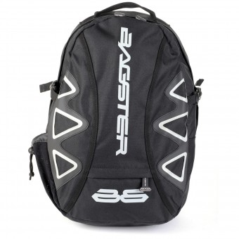 Motorcycle Backpacks Bagster Player Black White