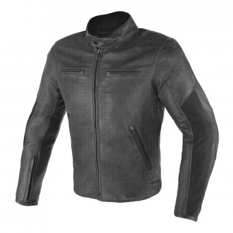 Motorcycle Jackets Dainese Stripes D1 Perforated Black