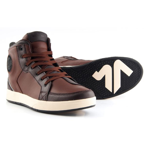 Motorcycle Trainers V'Quattro Twin Brown Beige