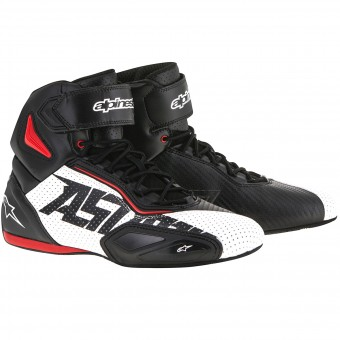 Motorcycle Trainers Alpinestars Faster 2 Vented Black White Red