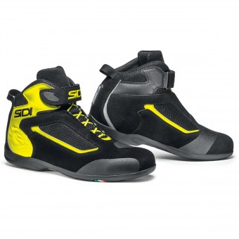 Motorcycle Trainers SIDI Gas Black Yellow Fluo