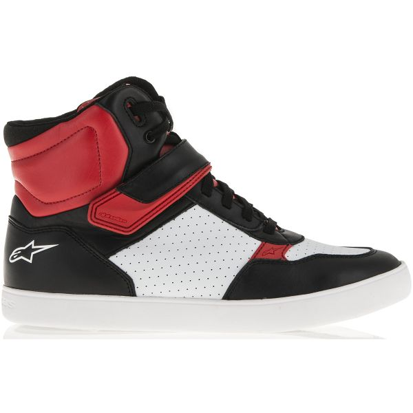 Motorcycle Trainers Alpinestars Lunar Black White Red