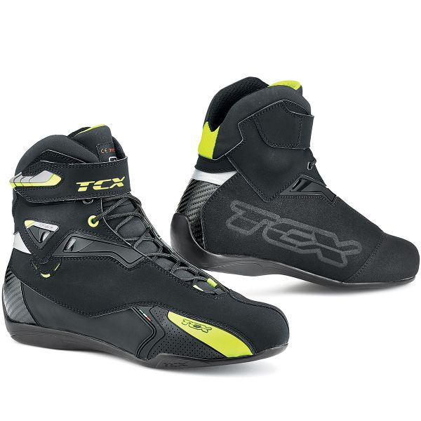 Motorcycle Trainers TCX Rush Waterproof Black Yellow