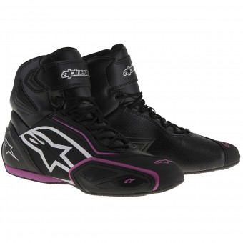 Motorcycle Trainers Alpinestars Stella Faster 2 Waterproof Black Fuschsia