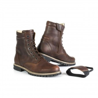 Motorcycle Boots Stylmartin Ace Brown