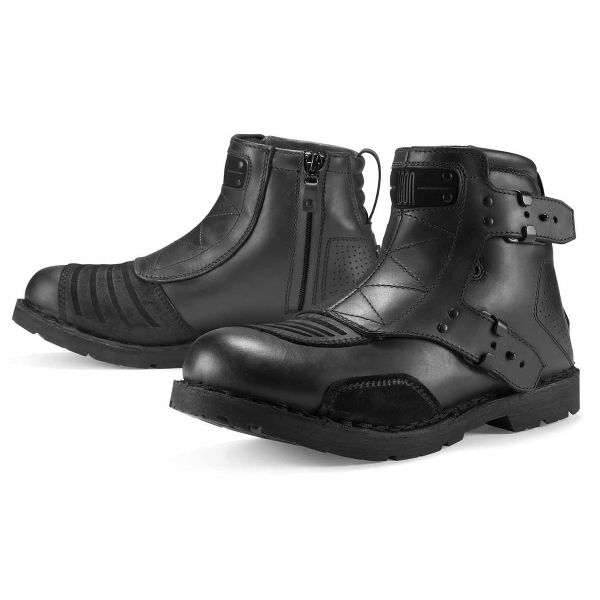 Motorcycle Boots ICON El Bajo Johnny Black