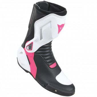 Motorcycle Boots Dainese Nexus Lady Black White Fuschia