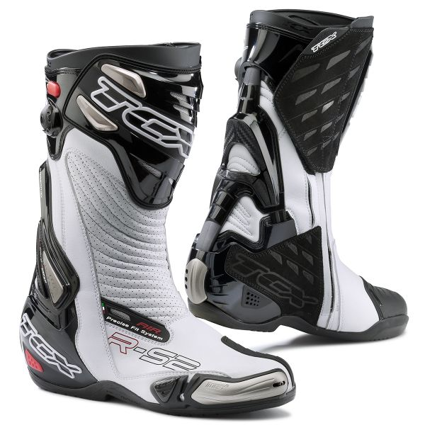 Motorcycle Boots TCX R-S2 EVO White Black