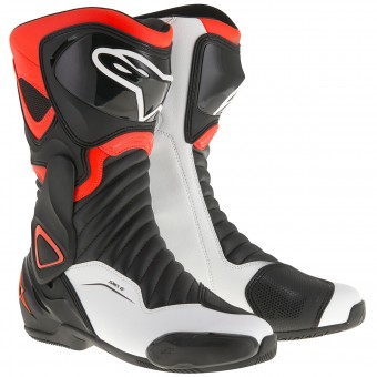 Motorcycle Boots Alpinestars SMX-6 V2 Black Red Fluo White