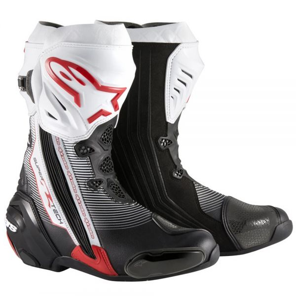 Motorcycle Boots Alpinestars Supertech R Black Red White