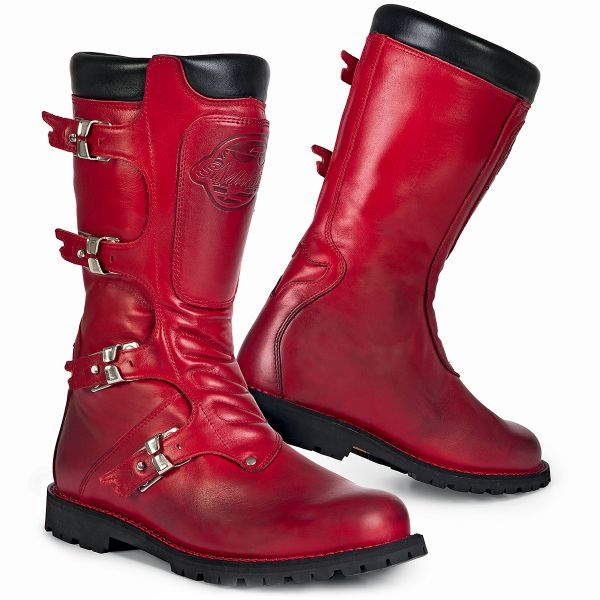 Motorcycle Boots Stylmartin Continental Red