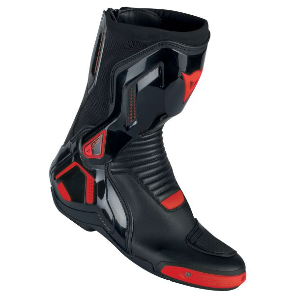 Motorcycle Boots Dainese Course D1 Out Black Fluo Red