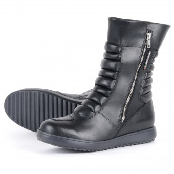 Motorcycle Boots V'Quattro Lea Waterproof Black