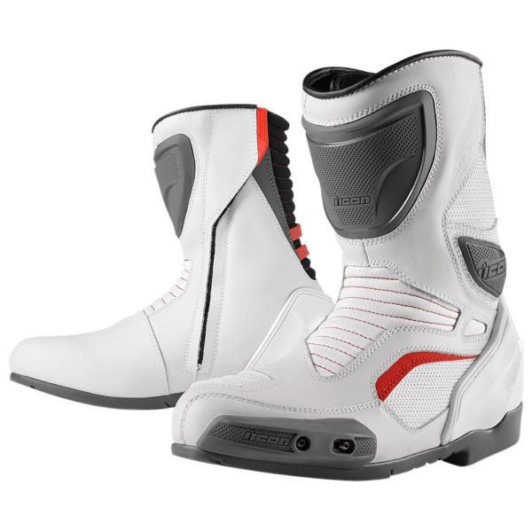 Motorcycle Boots ICON Overlord Boot White