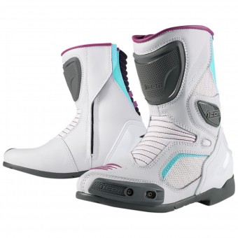 Motorcycle Boots ICON Overlord Women Boot White