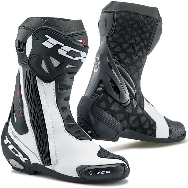 Motorcycle Boots TCX RT-Race White Black
