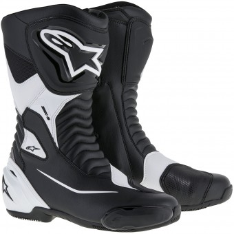 Motorcycle Boots Alpinestars SMX S Black White