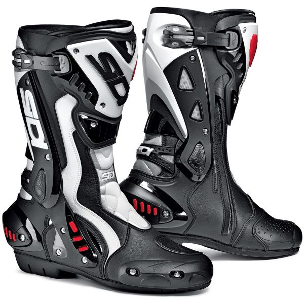 Motorcycle Boots SIDI ST Black White