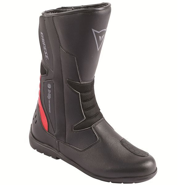Motorcycle Boots Dainese Tempest D-Waterproof Black Red