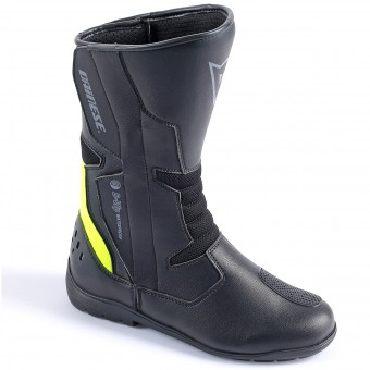 Motorcycle Boots Dainese Tempest Lady D-Waterproof Black Yellow Fluo