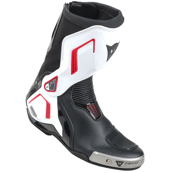 Motorcycle Boots Dainese Torque Out D1 Black White Red