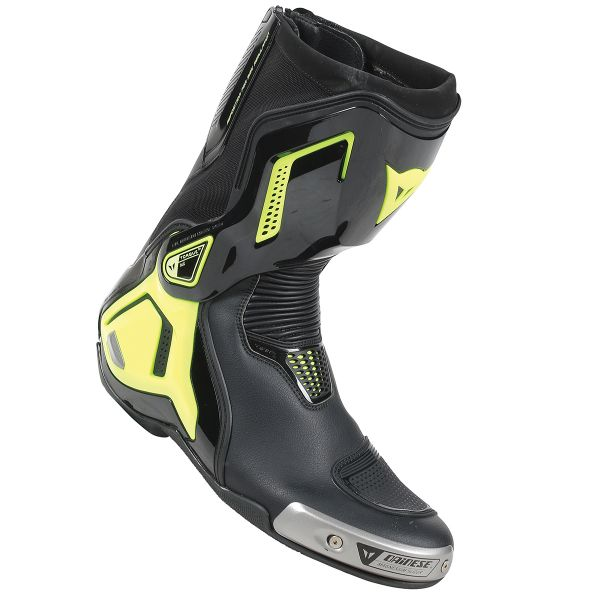 Motorcycle Boots Dainese Torque Out D1 Black Yellow Fluo