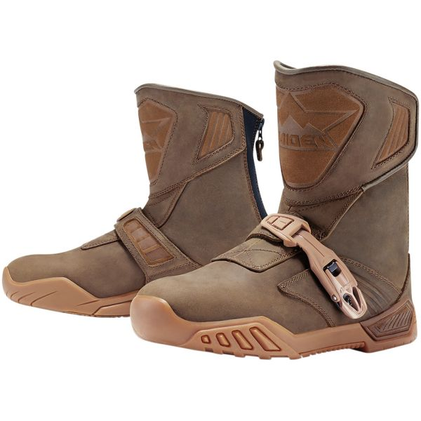Motorcycle Boots ICON Treadwell Waterproof Brown