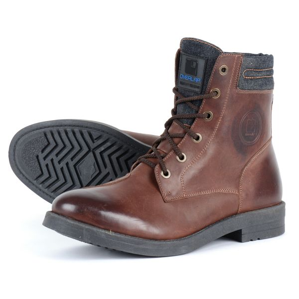 Motorcycle Shoes Overlap 23 Brown