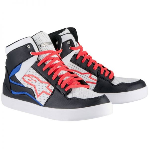 Motorcycle Trainers Alpinestars Stadium Black White Red Blue