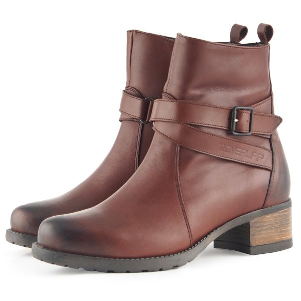 Motorcycle Shoes Overlap Legacy Lady Brown CE