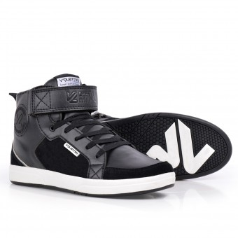 Motorcycle Shoes V'Quattro Milano Midcut Original Black